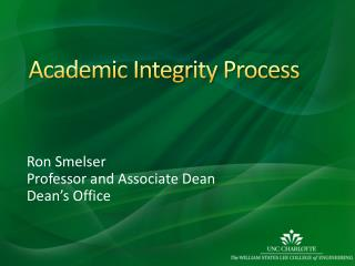 Academic Integrity Process
