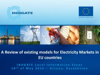 A Review of existing models for  Electricity  Markets in EU countries