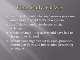 Case Study: FBI VCF