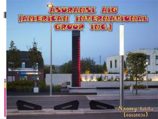 ASURANSI  AIG  (AMERICAN  INTERNATIONAL GROUP  INC.)