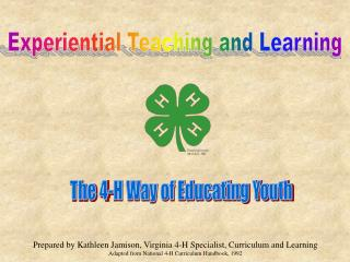 Experiential Teaching and Learning