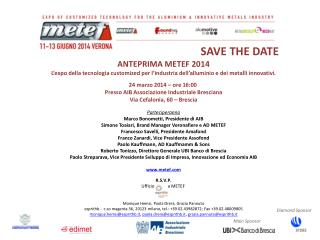 SAVE THE DATE ANTEPRIMA METEF 2014