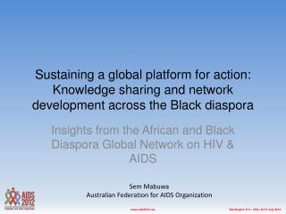 Insights from the African and Black Diaspora Global Network on HIV & AIDS