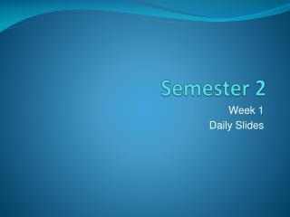 Semester 2