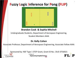 F uzzy  L ogic  I nference for  P ong ( FLIP )