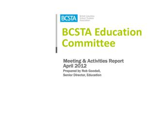 BCSTA Education Committee