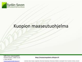Kuopion maaseutuohjelma