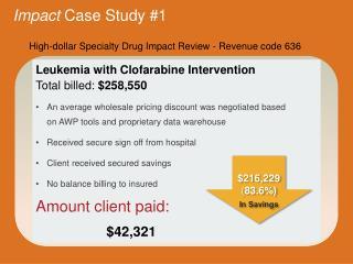 Impact  Case Study # 1