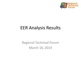 EER Analysis Results