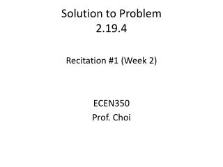 Solution to Problem 2.19.4