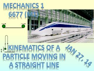 Kinematics of a particle moving in a straight line