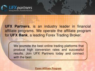 Forex Affiliate Program