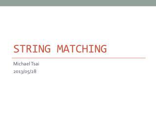 String Matching