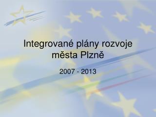 Integrované plány rozvoje města Plzně