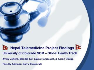 Nepal Telemedicine Project Findings