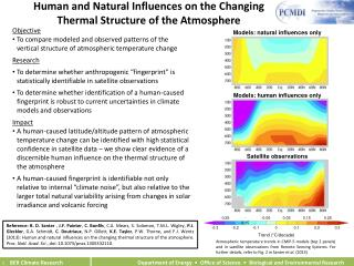 Human and Natural Influences on the Changing  Thermal Structure of the Atmosphere