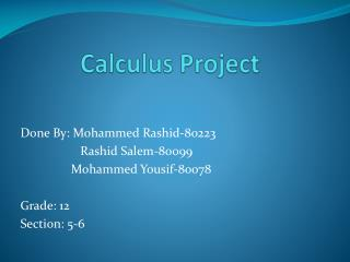 Calculus Project