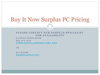 Buy It Now Surplus PC Pricing