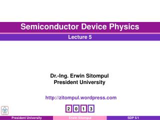 Chapter 5 pn  Junction Electrostatics