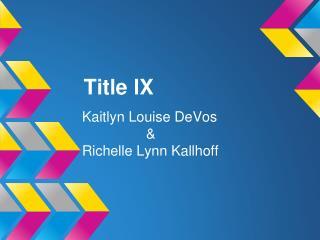 Title lX
