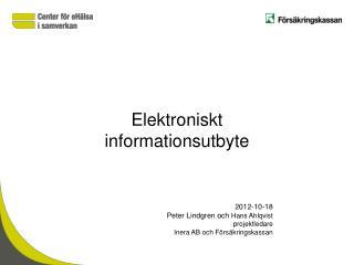 Elektroniskt  informationsutbyte
