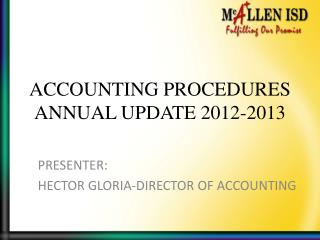 ACCOUNTING PROCEDURES ANNUAL UPDATE 2012-2013