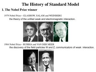 The History of Standard Model