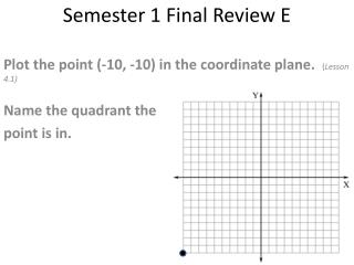 Semester 1 Final Review  E