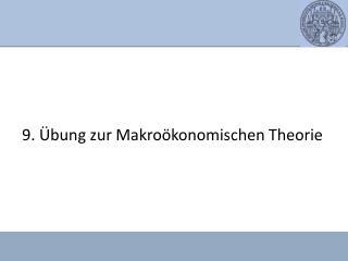 9. Übung zur Makroökonomischen Theorie