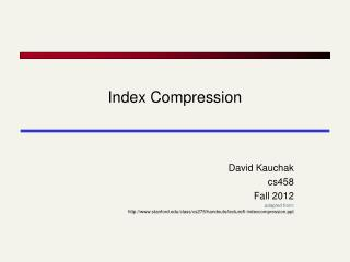 Index  Compression