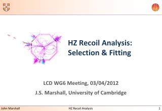 HZ Recoil Analysis: Selection & Fitting