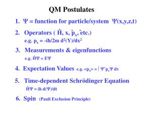 QM Postulates