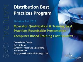 Distribution Best Practices Program