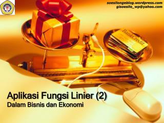 Aplikasi Fungsi  Linier (2)