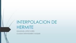 INTERPOLACION DE HERMITE