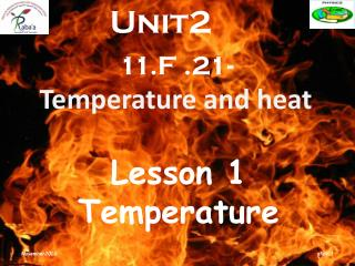 11.F .21- Temperature and heat