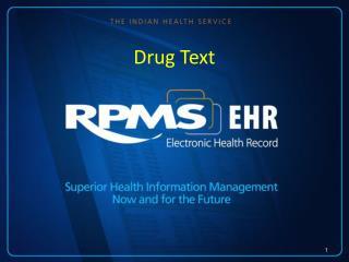 Drug Text