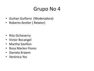 Grupo No 4