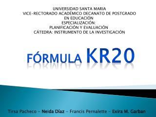 UNIVERSIDAD SANTA MARIA VICE-RECTORADO ACADÉMICO DECANATO DE POSTGRADO EN EDUCACIÓN