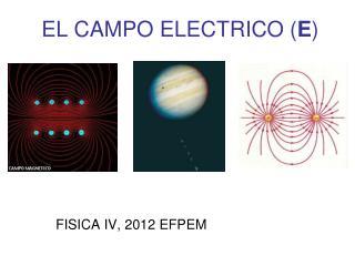EL CAMPO ELECTRICO ( E )