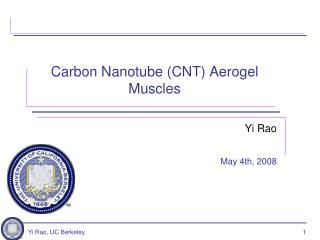 Carbon  Nanotube  (CNT)  Aerogel  Muscles