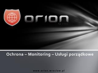 Ochrona – Monitoring – Usługi porządkowe