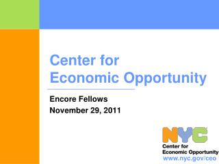 Center for  Economic Opportunity