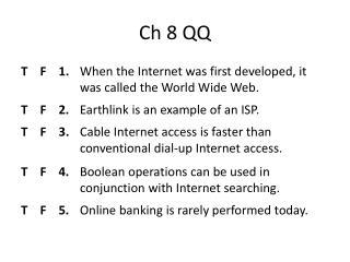 Ch  8 QQ