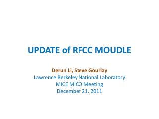 UPDATE of RFCC MOUDLE