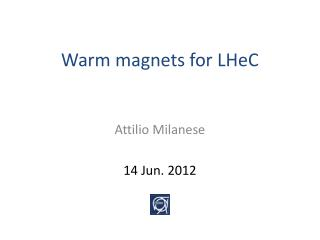 Warm magnets for LHeC