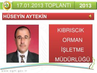 17.01.2013 TOPLANTI