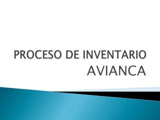 PROCESO DE INVENTARIO