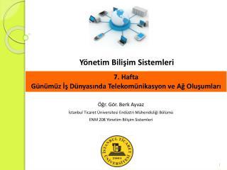Yönetim Bilişim Sistemleri