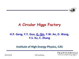 A Circular Higgs Factory